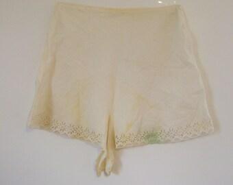 1920s White cotton Tap Panties