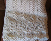 Handmade Cream Winter Afghan