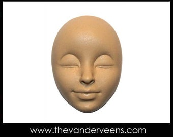 Mold No.198 (Face - with clossed eyes) by Veronica jeong