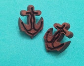 Anchor Carved Wood  Studs