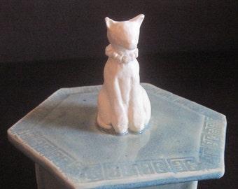 Porcelain Hand Built Siamese Opal Glazed Hexagon Box