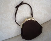 Vintage Purse Evening Bag Beau Sac USA Brown Formal Purse Designer Purse