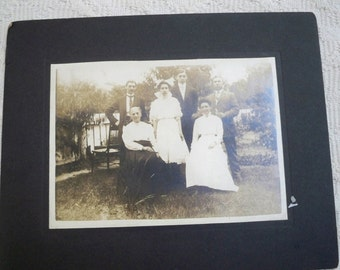Vintage Collectible Cabinet Card Photograph Family Photo Three Generations