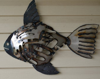 Fish Metal Wall Art metal fish wall art | etsy