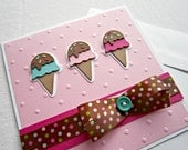 Embossed Card with Ice Cream