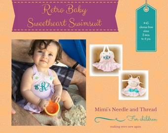 Baby handmade swimsuit, monogrammed, seersucker, swimming, pool, handmade, made to order