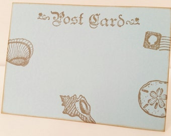 Nautical Post Card Wedding Wish Cards Tags Set of 10