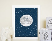 Personalized to the Moon wall art print