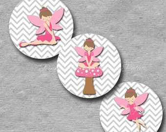 Fairy Stickers Envelope Seals Stickers Birthday Stickers Birthday Favor Stickers  - Set of 24 - SES242