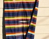 Vintage 40s 50s Mexican Saltillo Serape Rug Blanket SALE