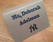 NEW YORK YANKEES Escort Cards, Place card.logo. baseball, bar mitzvah. sports theme.Mr. & Mrs. party. seating. tables