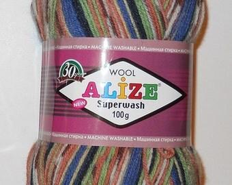 Alize Superwash Sock Yarn, 100g/459 yd, #2701