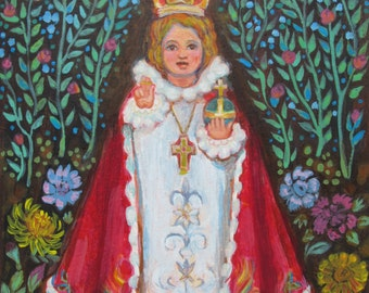Infant of Prague - the Child Jesus - Christ Child - Catholic Art