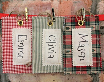 Fabric Name Tag for your Santa Sack, Stocking or Gift