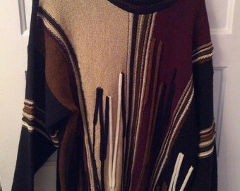 Protege XL 80s sweater jumper pullover knit xl boho grunge Cosby acrylic