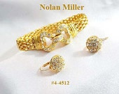 FREE SHIP Nolan Miller Bracelet And Earrings Glamour Collection (4-4512)