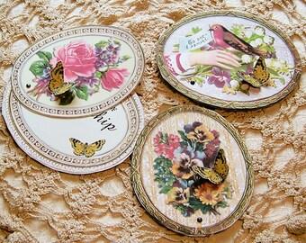 Digital Victorian Valentine Kids Teacher Girls Students - 3D Printable Gift Tags, Tokens Digital Download - Vintage Paper Crafts CS66C
