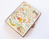 "Antique Stratton compact: Sumptuous antique 1940s rare Stratton ""Pontoon"" signed rectangular Asian design powder compact"