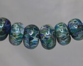 Lampwork Boro Beads- Low Tide