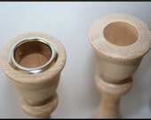 Nickle or Bass Candle Cup or Candle Stick Metal Inserts- Fits 29/32 Inch Candle Stick Hole