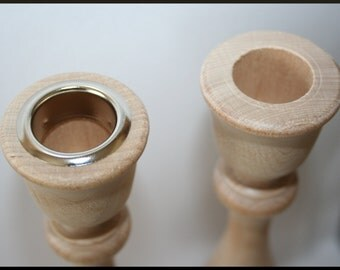 Nickel or Brass Candle Cup or Candlestick Metal Inserts- Fits 29/32 Inch Candlestick Hole