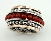 Payment Link -  - for Tonie - Final Payment, Great 9k Gold and Sterling Silver cornelian ston  Swivel Band Ring size sn 1045a