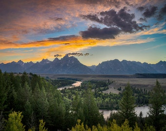 Grand Teton Photography Mountain Wyoming Sunset Rockies Photo Landscape Photograph Wall Art Home Decor nat132