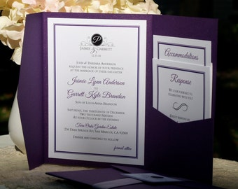 Custom Pocketfold Wedding Invitations - Design Your Own