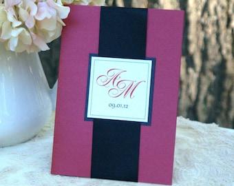 Monogram Folder - Wedding Invitations