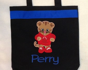 Personalized Tote Bag, Personalized Tote, Daniel Tiger Tote Bag, Tiger Tote, Daniel Tiger Gift, Personalized Daniel Tiger, Cartoon tote