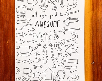 Handmade Card - All Signs Point To Awesome