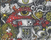 Conspiracy Art Magnetic Puzzle Weaving Spiders Esoteric Owl Octopus Illuminati Bucky Balls All Seeing Shroom