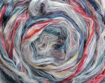 2 oz Variegated Merino/Tussah Silk 70/30 Blend Diablo