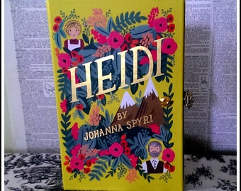 Book Clutch Heidi by Johanna Spyri Petite Book Purse Clutch Made to Order