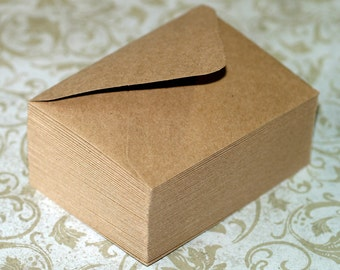 Kraft Envelopes (25) ... A1 4 Bar Envelopes Grocery Bag Brown Stationery Recycled Kraft Blank Cards Invitation Straight Flaps or Euro Flaps