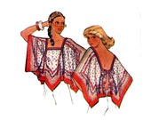 1970s Scarf Top Pattern Tie On Angel Sleeve Hanky Top And Raglan Keyhole Pullover Tops McCalls 5523 Petite Bust 30 31 Vintage Sewing Pattern