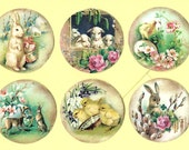Easter Stickers - Rabbit Stickers - Easter Themed