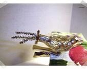 Mercury Glass Bird Clip-on Ornament w/ Metallic Chenille Tail/Silver tone/Single OR Set of 2/ Holiday Decor*