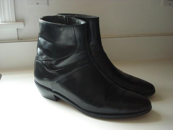 vintage black ankle boots beatle chelsea size 11 mens 9