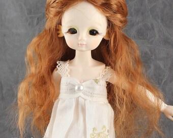 """Fatiao - New Dollfie Bisou AI BJD Dolls Wig - size 4-5"""" -Caramel"""
