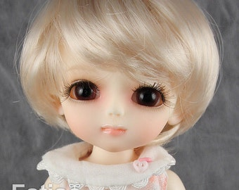 "Fatiao - Dollfie Lati Yellow Pukifee 5-6"" Angel Doll Wig Blonde"