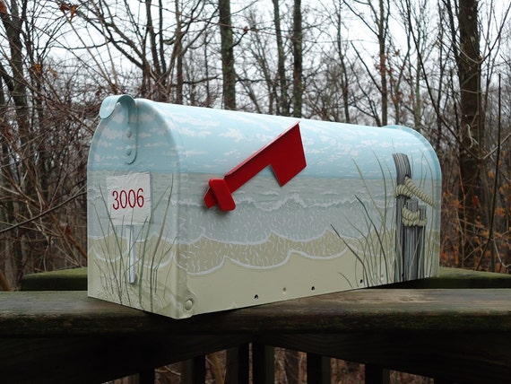Hand Painted Mailbox | Handmade Decor Ideas For Decorating A Beach House