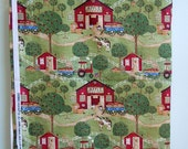 Debbie Mumm Fabric //  Vintage Apple Festival Fabric //  Farm Scene Quilt Cotton Fabric
