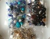 Grab Bag of Retro  Beads and Stone Charms