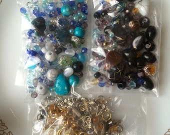 Grab Bag of Retro  Beads and Stone Charms
