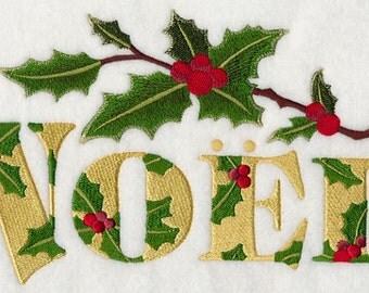 FESTIVE FLORALS NOEL - Machine Embroidery Quilt Blocks (AzEB)