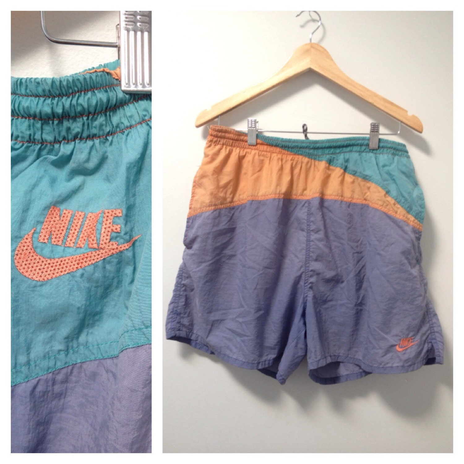 80s NIKE Swim Trunks Swim Shorts Mens Bathing by