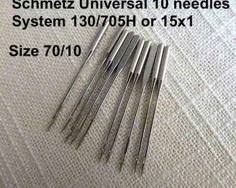 Universal Size 70/10  Schmetz 10 Sewing Machine Needles System 130/705H