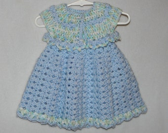 Soft Baby Blue Dress and Bolero Set in size 9 months to 12 months