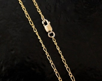 30 Inch Gold Filled 1.5mm Figaro Chain With Lobster Clasp - Custom Lengths Available